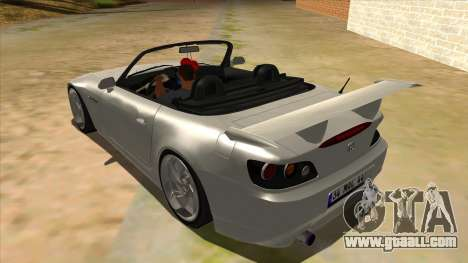 Honda S2000 MA Tunning for GTA San Andreas back left view