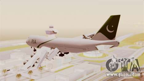 Boeing 747-200 Pakistan International for GTA San Andreas right view