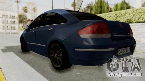 Fiat Linea 2011 for GTA San Andreas back left view