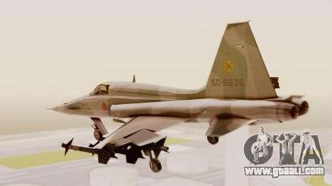 Northrop F-5E Tiger II JASDF for GTA San Andreas right view