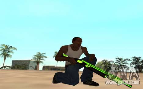 Green chrome weapon pack for GTA San Andreas forth screenshot
