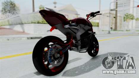 Pulsar 200NS Stunt for GTA San Andreas back left view