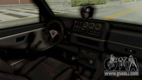 Volkswagen Jetta 2 for GTA San Andreas inner view