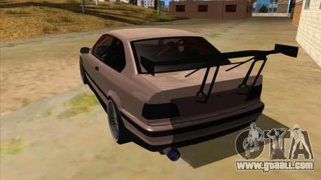 BMW M3 Drift Missile for GTA San Andreas back left view