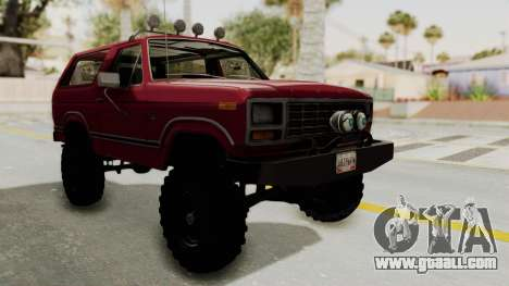 Ford Bronco 1985 Lifted for GTA San Andreas