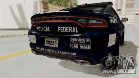 Dodge Charger RT 2016 Federal Police for GTA San Andreas bottom view
