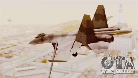 SU-27 Hydra for GTA San Andreas left view