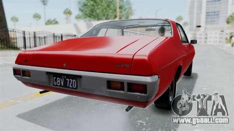 Holden Monaro GTS 1971 AU Plate HQLM for GTA San Andreas left view