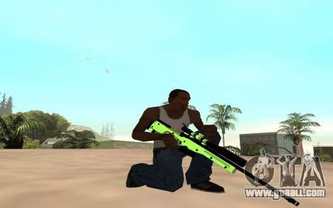 Green chrome weapon pack for GTA San Andreas second screenshot