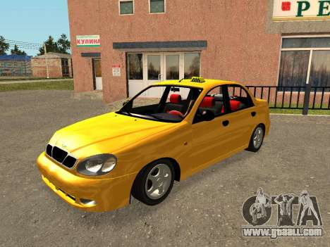 Daewoo Lanos (Sens) 2004 v2.0 by Greedy for GTA San Andreas engine