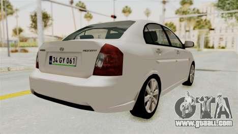 Hyundai Accent Era for GTA San Andreas right view
