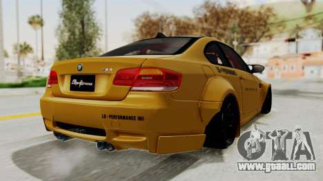 BMW M3 E92 Liberty Walk for GTA San Andreas right view