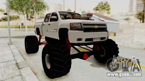 Chevrolet Silverado 2011 Monster Truck for GTA San Andreas back left view