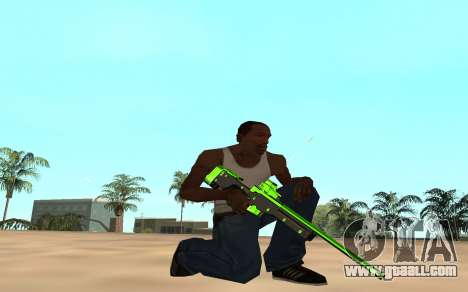 Green chrome weapon pack for GTA San Andreas sixth screenshot