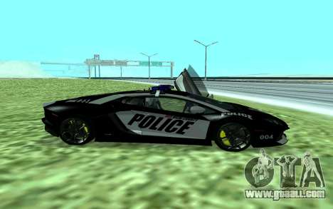 Lamborghini Reventon Police for GTA San Andreas left view