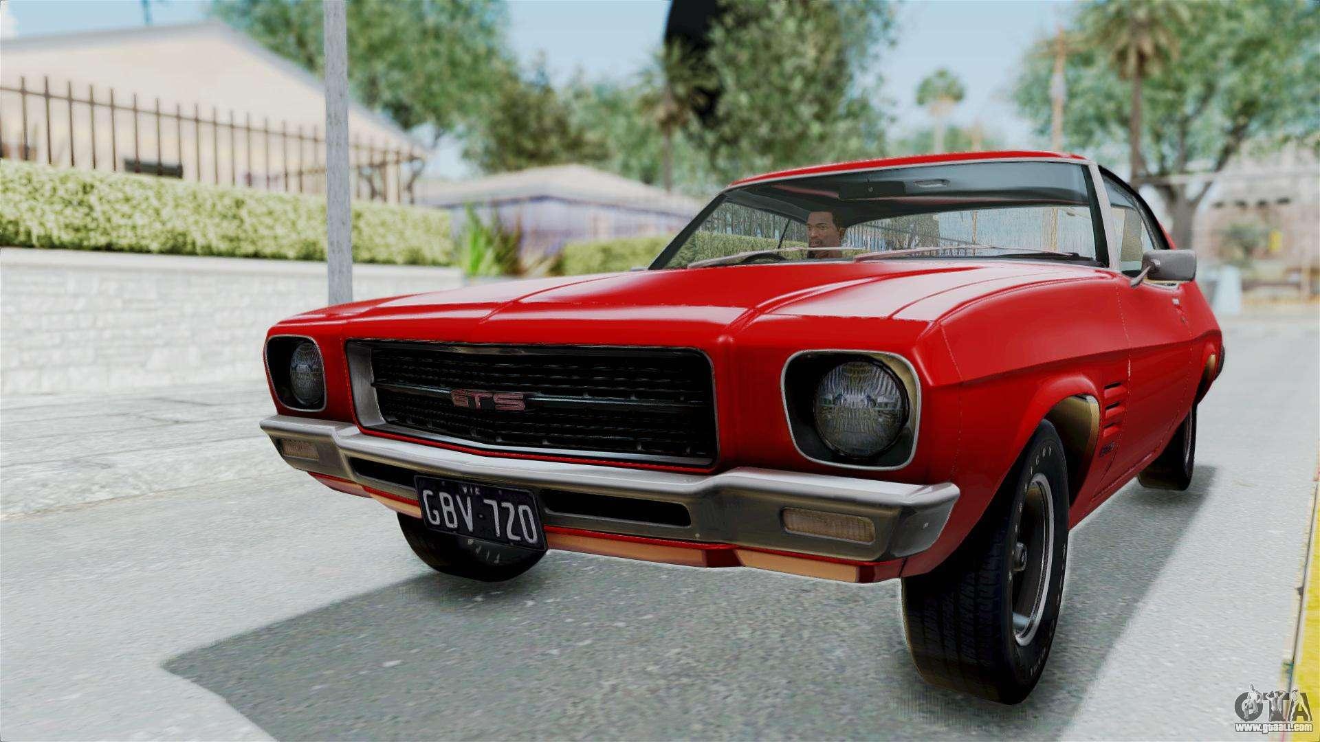 Holden Monaro Gts 1971 Au Plate Hqlm For Gta San Andreas