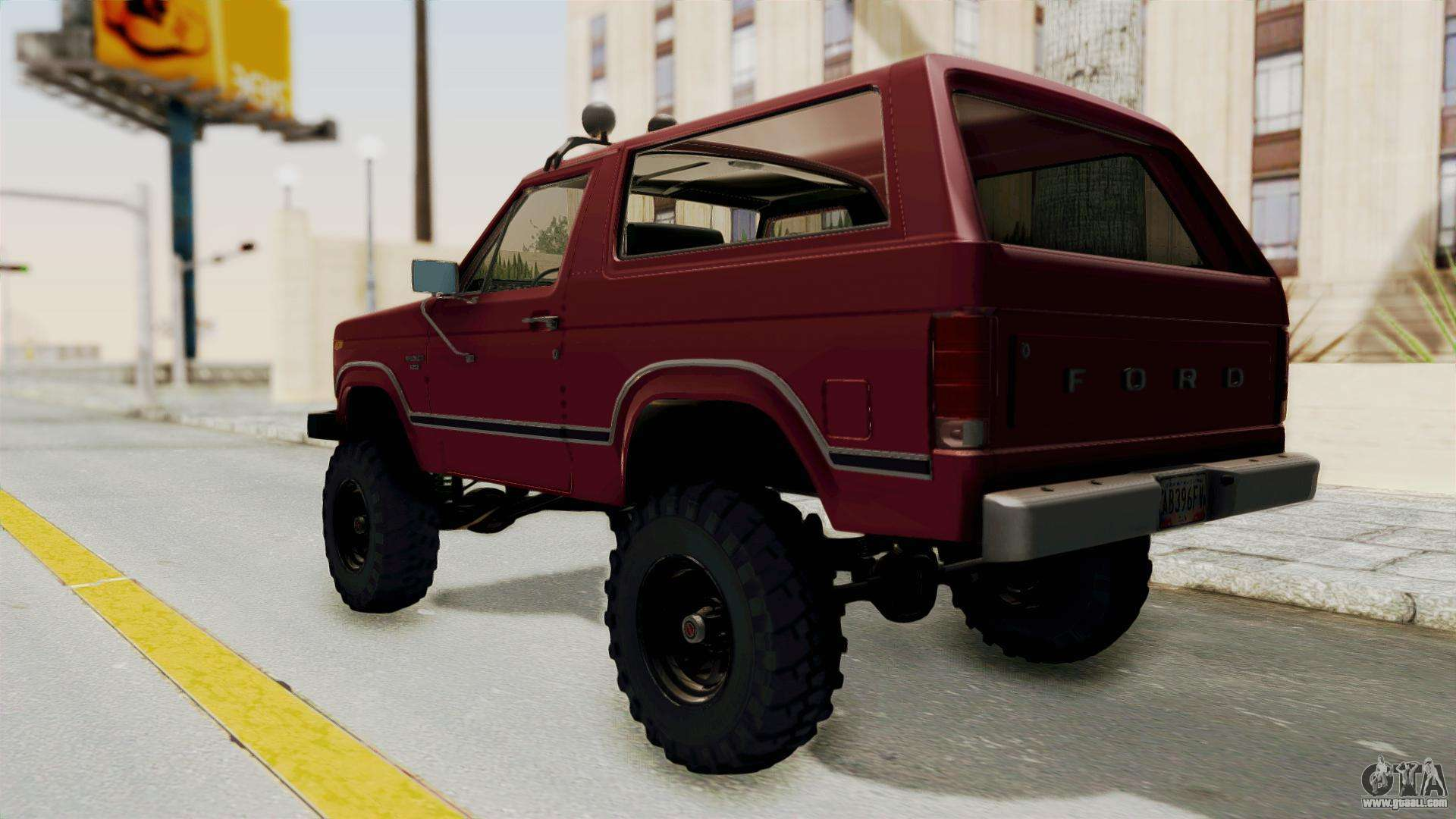 Ford Bronco 1985 Lifted For Gta San Andreas 1980 Back Left View