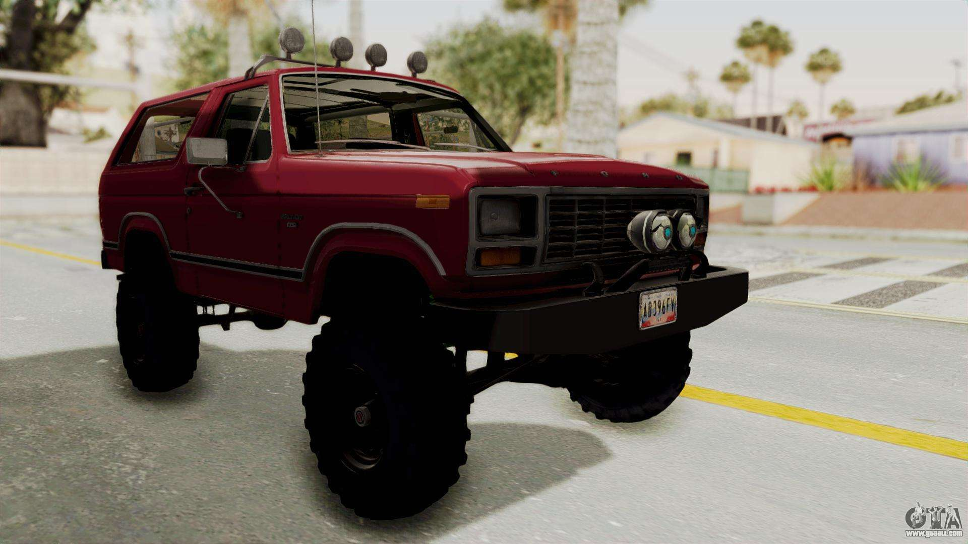 Ford Bronco 1985 Lifted For Gta San Andreas Paint Jobs