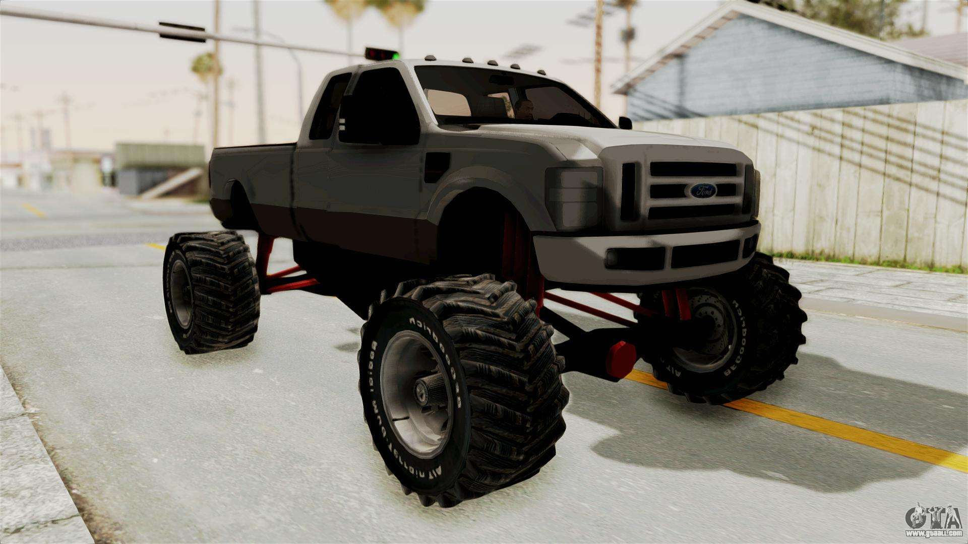 ford f 350 super duty monster truck for gta san andreas. Black Bedroom Furniture Sets. Home Design Ideas