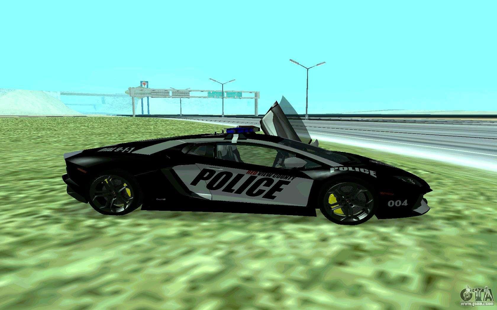 Elegant Lamborghini Reventon Police For GTA San Andreas Left View Photo Gallery