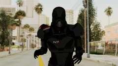 ME2 Shepard Default N7 Armor with Death Mask