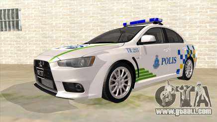 Mitsubishi Lancer Evolution X PDRM for GTA San Andreas