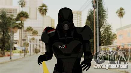 ME2 Shepard Default N7 Armor with Death Mask for GTA San Andreas