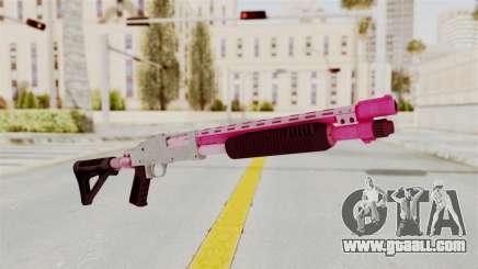 GTA 5 Pump Shotgun Pink for GTA San Andreas
