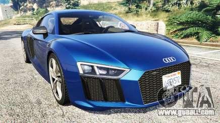 Audi R8 V10 Plus 2015 for GTA 5