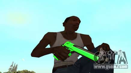 Green chrome weapon pack for GTA San Andreas