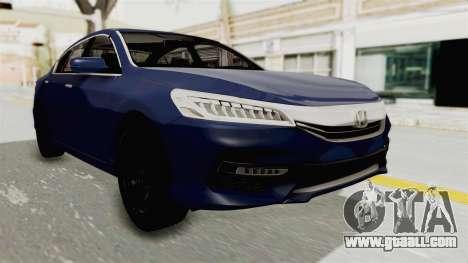 Honda Accord 2017 for GTA San Andreas