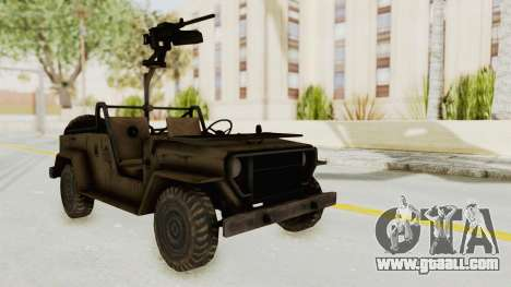 MGSV Jeep for GTA San Andreas right view