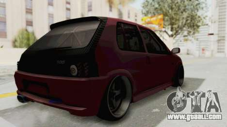 Peugeot 106 V2 RWD Greek Style for GTA San Andreas left view