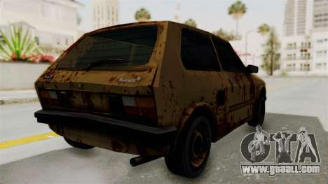 Zastava Yugo Koral 55 Rusty for GTA San Andreas back left view