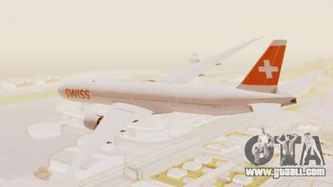 Boeing 777-300ER Swiss International Air Lines for GTA San Andreas left view
