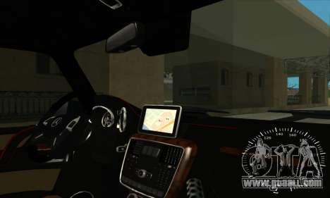 Mercedes G63 Biturbo for GTA San Andreas interior