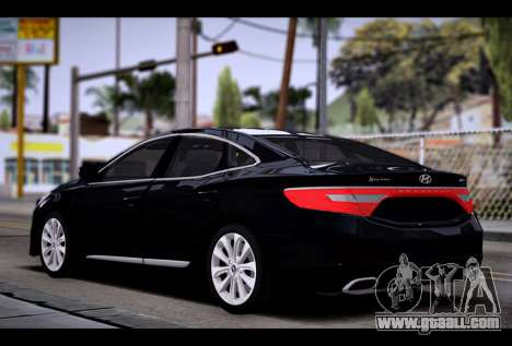 Hyundai Grandeur 2015 STOCK for GTA San Andreas left view