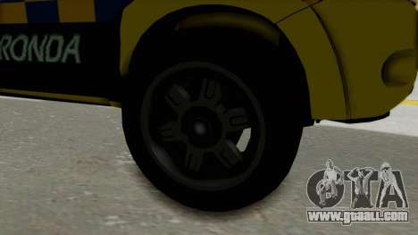 Toyota Hilux Expressway Patrol for GTA San Andreas back view