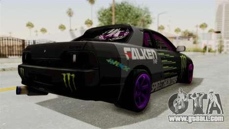 Nissan Skyline R32 Drift Monster Energy Falken for GTA San Andreas back left view