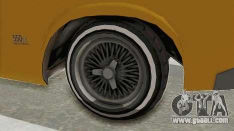 GTA 5 Declasse Sabre GT2 A IVF for GTA San Andreas back view