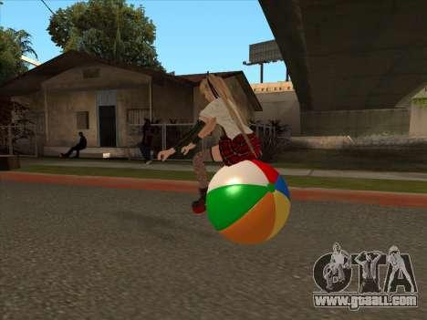 Beachball for GTA San Andreas back view
