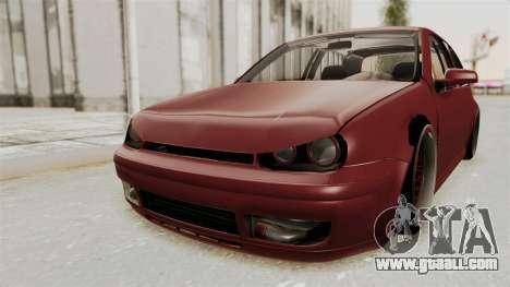 Volkswagen Golf Mk4 V5 Edited for GTA San Andreas