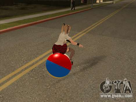Beachball for GTA San Andreas back left view