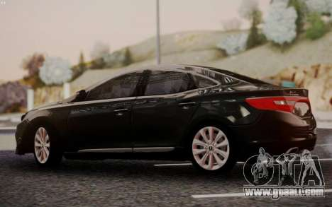 Hyundai Grandeur 2015 STOCK for GTA San Andreas right view