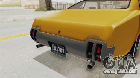GTA 5 Declasse Sabre GT2 A IVF for GTA San Andreas interior