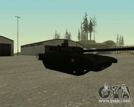 T-14 Armata for GTA San Andreas left view