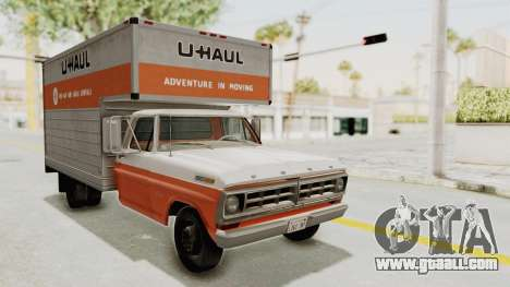 Ford F-350 U-Haul 1971 for GTA San Andreas right view