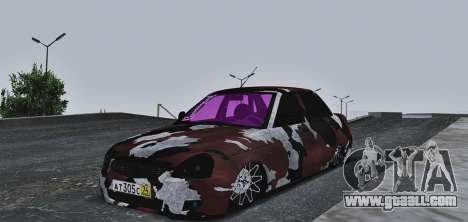 Lada Priora Camouflage for GTA San Andreas