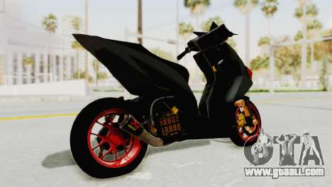 Honda Vario Concept 200CC for GTA San Andreas back left view