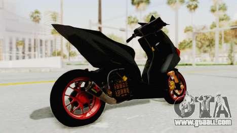 Honda Vario Concept 200CC for GTA San Andreas back left view